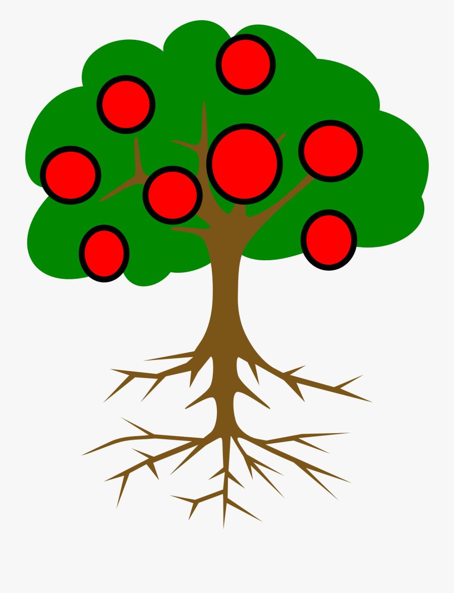 Clip Art Tree Root Branch Cute - Tree Clip Art, Transparent Clipart