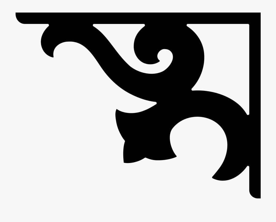 Corner Brackets Of Islamic Pattern, Transparent Clipart