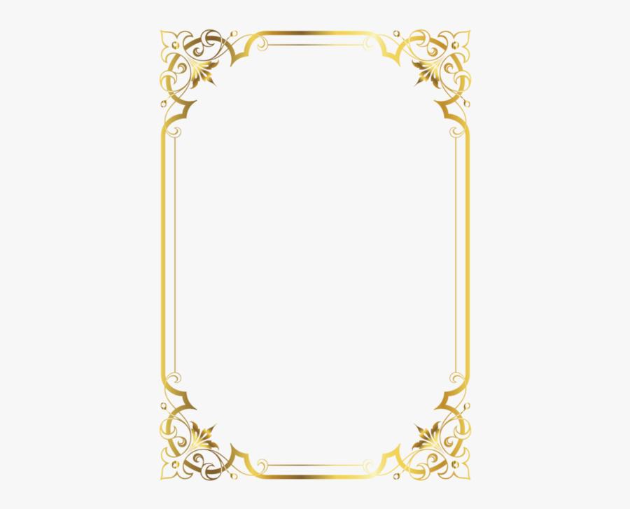 Burlesquing Clipart Vintage Scroll Frame - Frame Border Design Png, Transparent Clipart