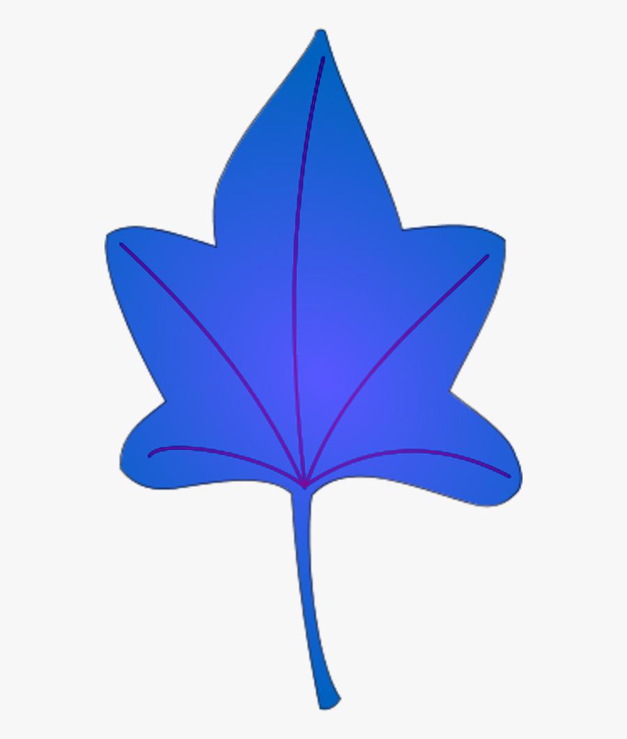 Yellow Brown Autumn Leaf - Sky Blue Leaf Clipart, Transparent Clipart