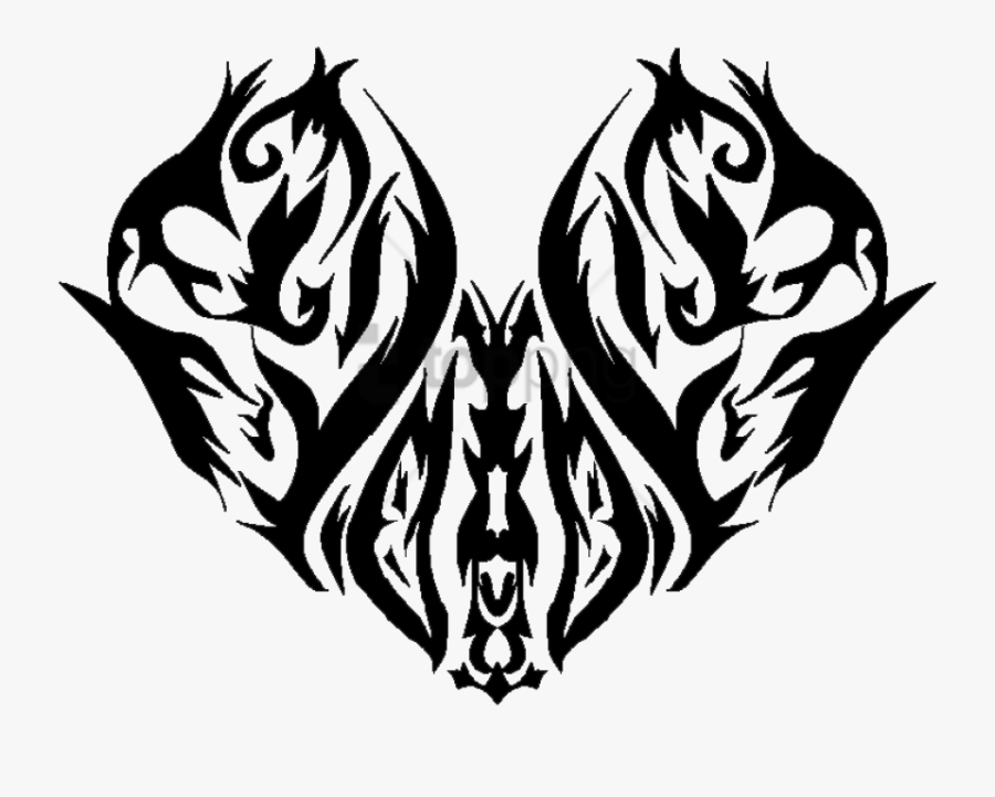 Heart Tattoo Png - Tattoos File Png, Transparent Clipart