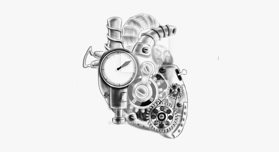 Clip Art Mechanical Heart Tattoos - Mechanical Heart Tattoo Designs, Transparent Clipart