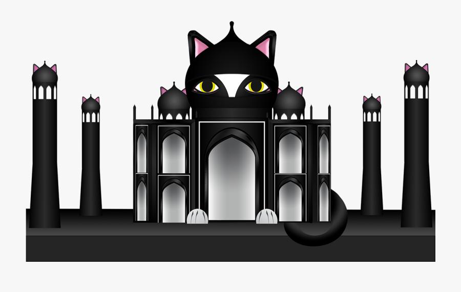 While Visiting The Taj Mahal, Like Many A Cat, Ninjacat - Illustration, Transparent Clipart