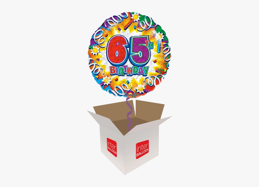 Happy 65th Birthday Blast Holographic - Happy Birthday 7th Balloons, Transparent Clipart