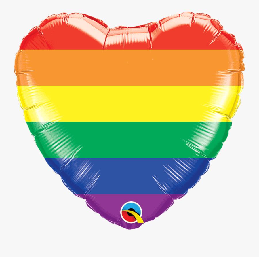 Rainbow Love Hearts, Transparent Clipart