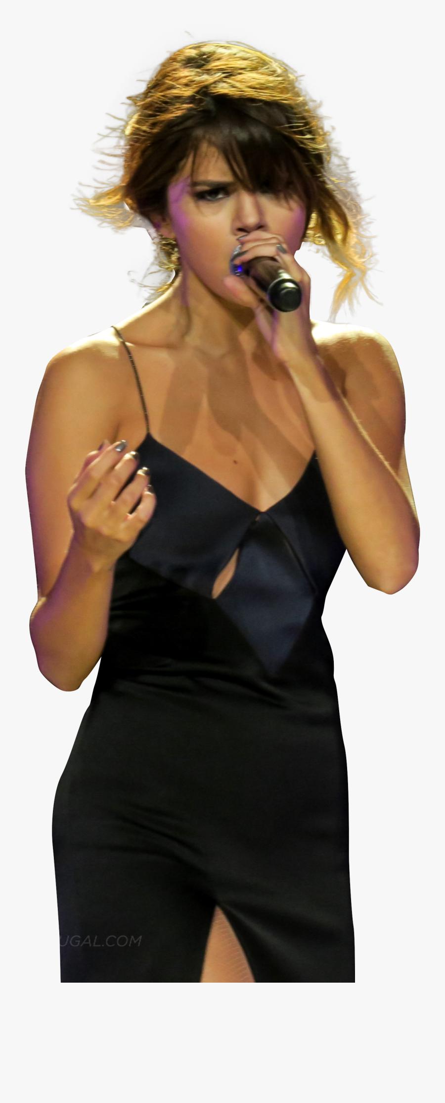 Selena Gomez Singing On Stage Png Image - Selena Gomez Singing Png, Transparent Clipart