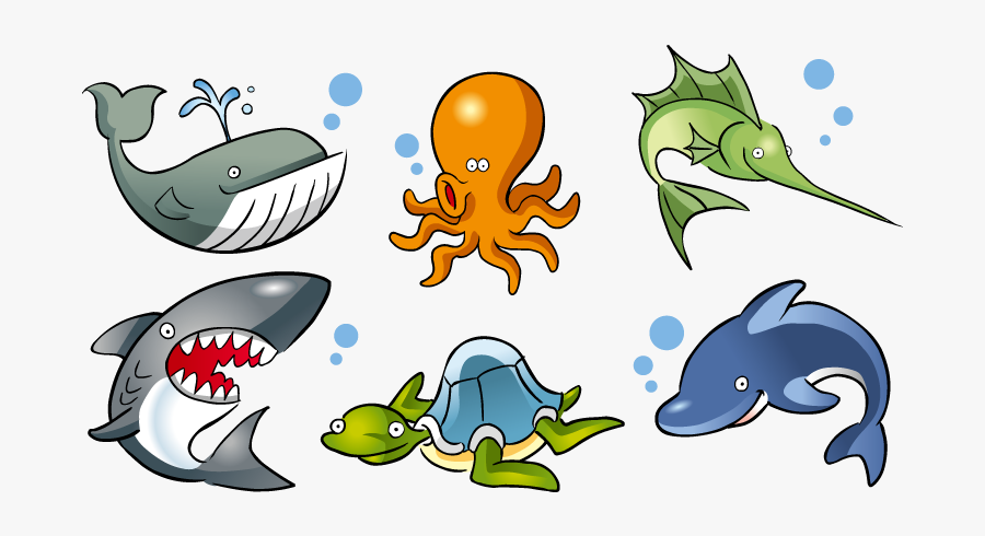 Deep Sea Creature Aquatic Animal Ocean Marine Life - Cartoon Ocean Life, Transparent Clipart