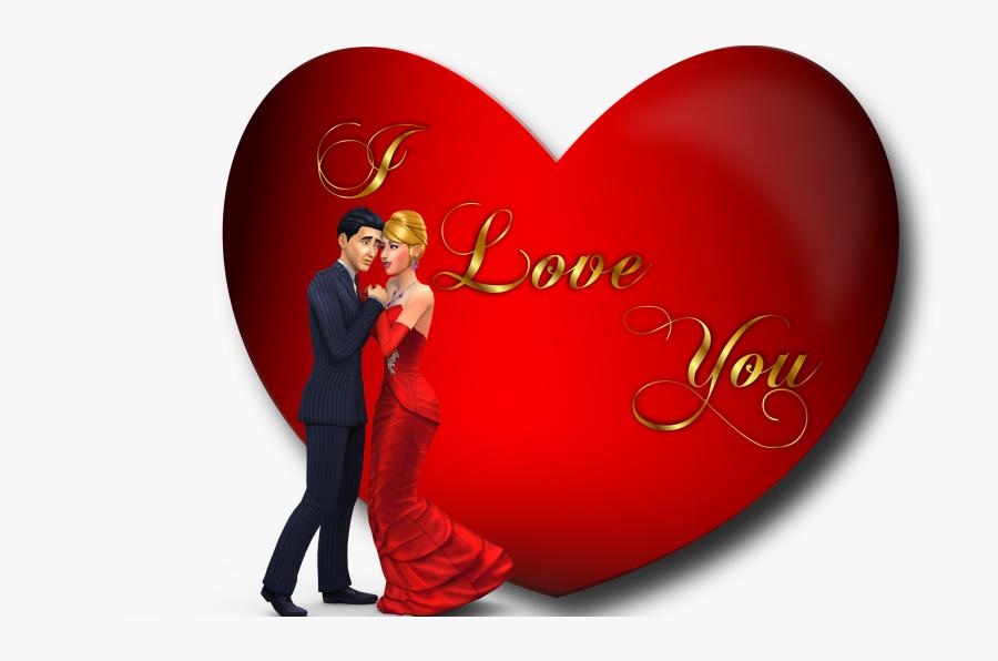 Heart L Love U, Transparent Clipart