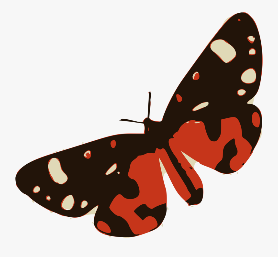 3 Clipart Butterfly - Brush-footed Butterfly, Transparent Clipart