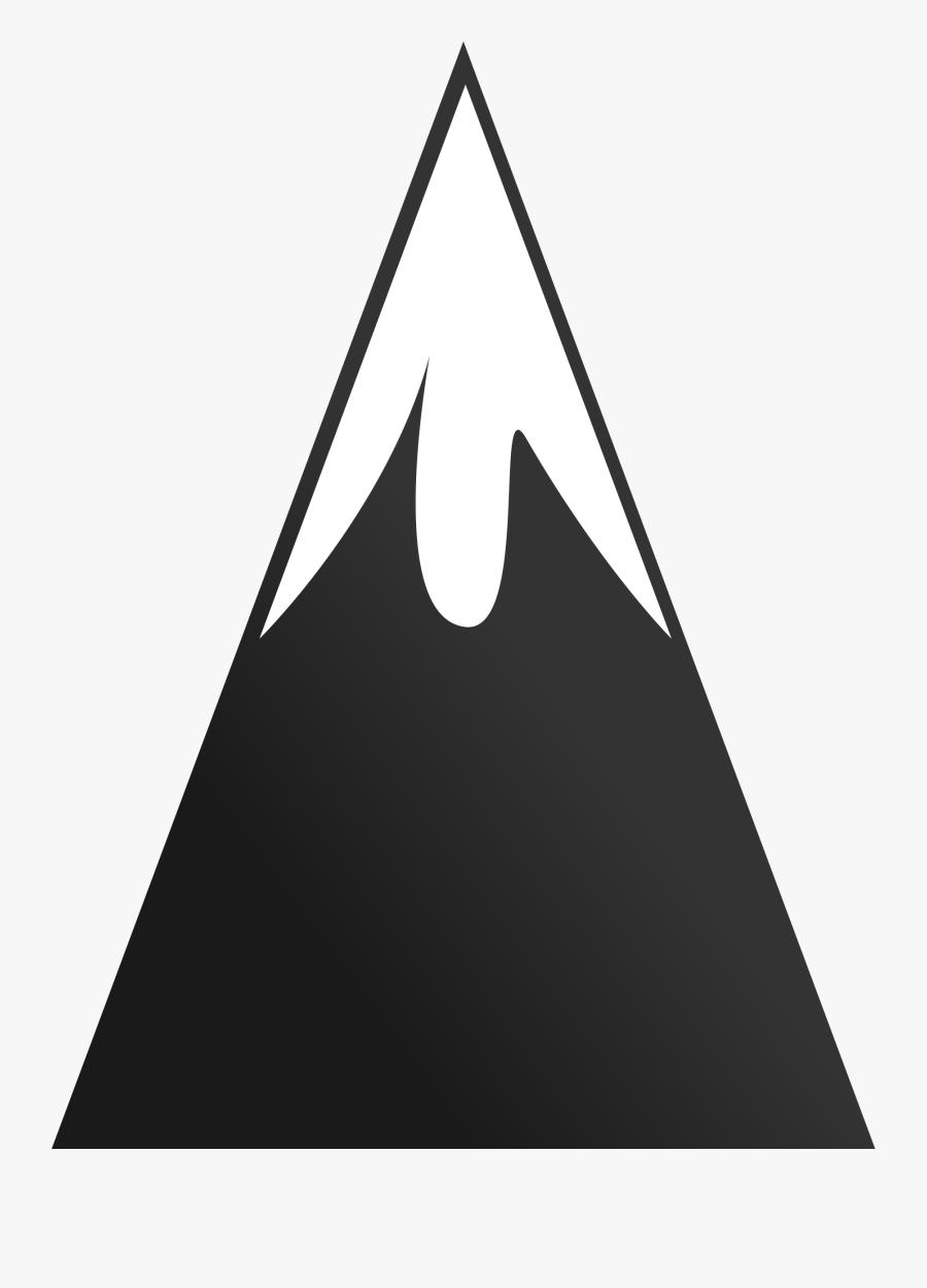 Transparent Moutain Png - Symbol Of Mountain Peak, Transparent Clipart