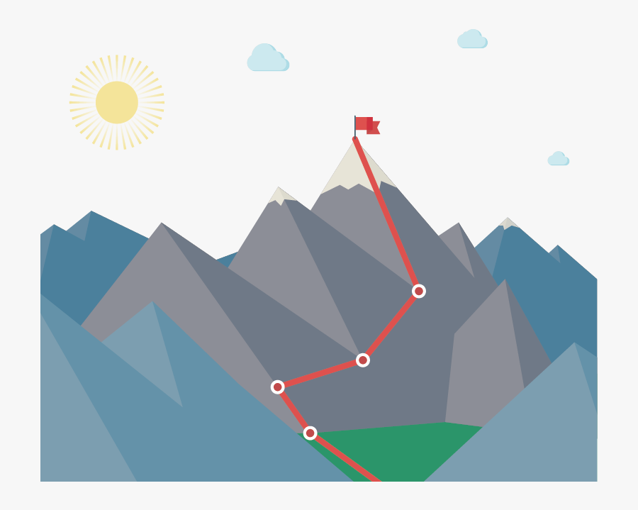 Clip Art Graphic Mountains - Roadmap To Recovery, Transparent Clipart