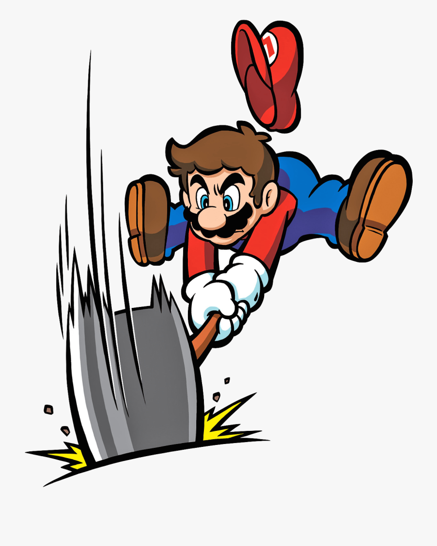 Nintendo Fanon Wiki - Mario With Hammer, Transparent Clipart