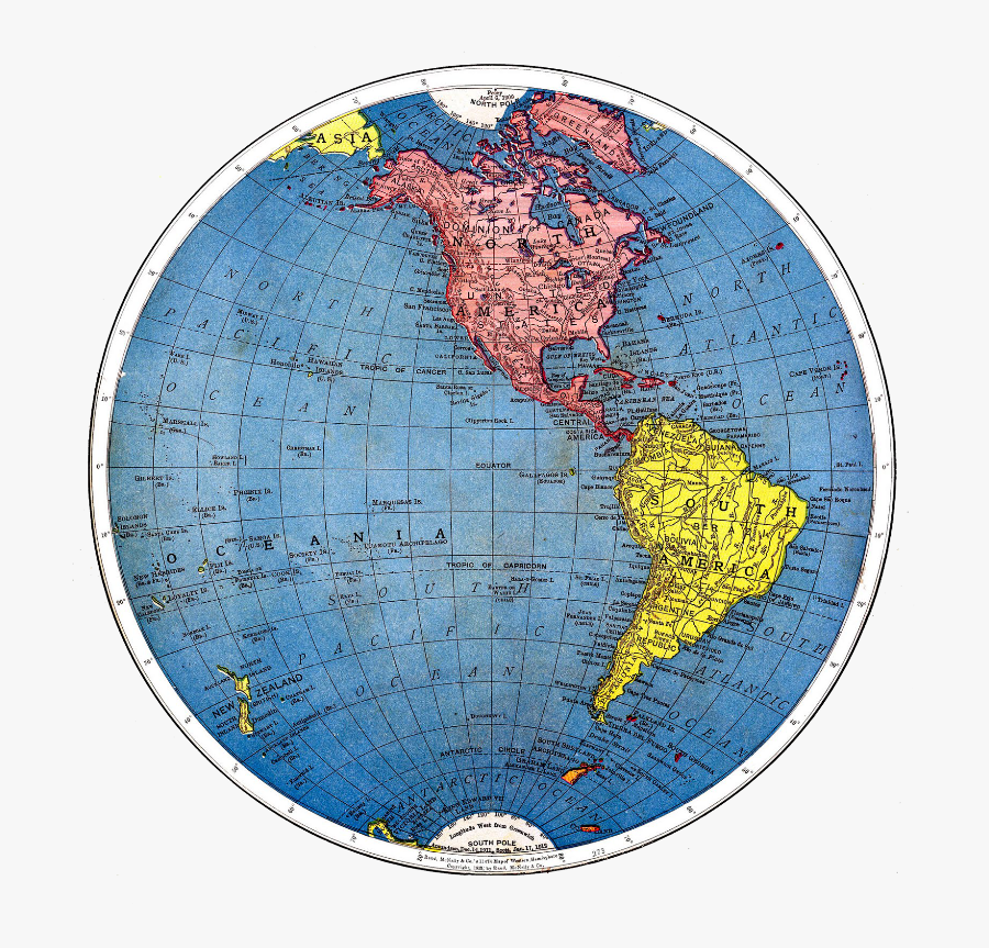 Pin By Mary Barnes - World Map In Circle Shape, Transparent Clipart