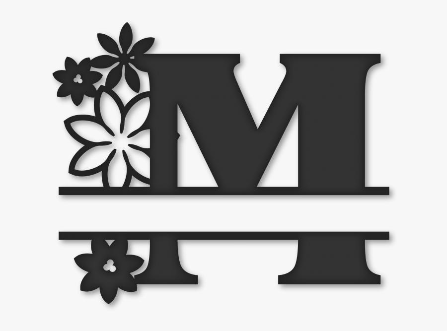 Transparent Monogram Clipart - Monogram Split Letter M, Transparent Clipart