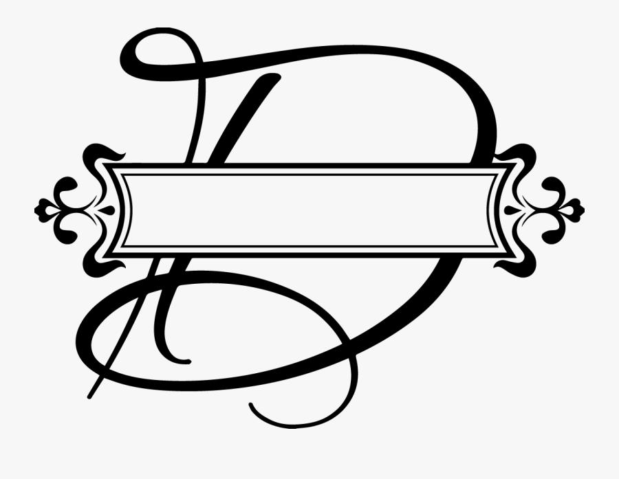 D Transparent Fancy - Split Monogram Letter D, Transparent Clipart