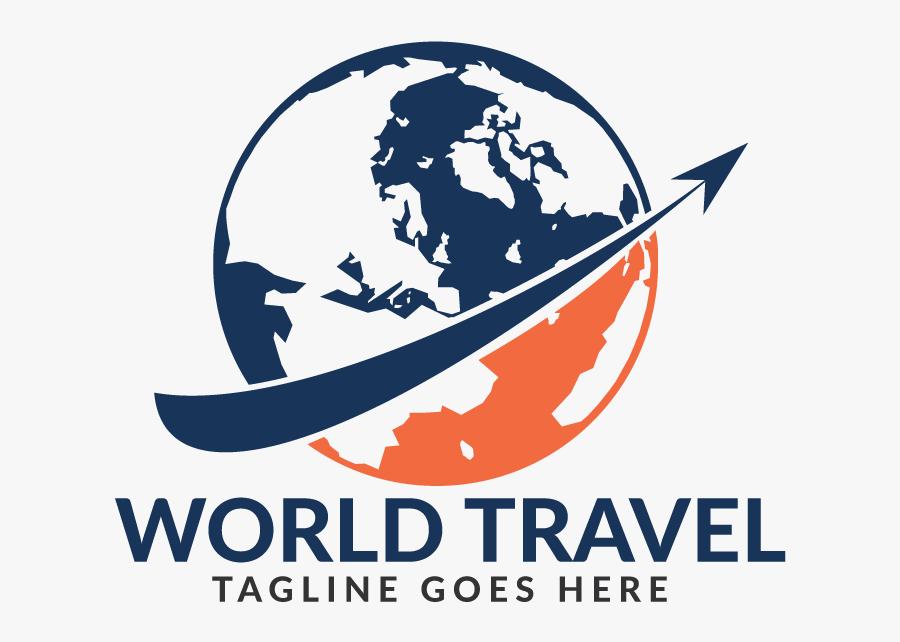 World Travel Logo Design - Travel Agency Company Logo, Transparent Clipart