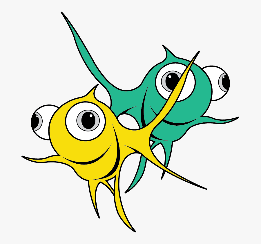 Fish Group Png - 2 Fish, Transparent Clipart