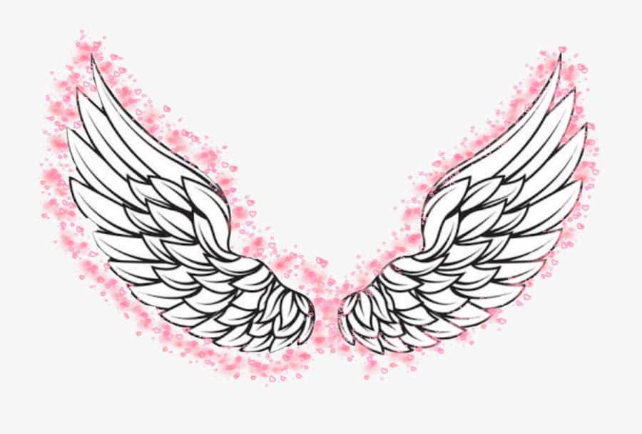 #angelwings #angel #pink #pinkwings #love #heaven #halo - Angel Wings Png Vector, Transparent Clipart