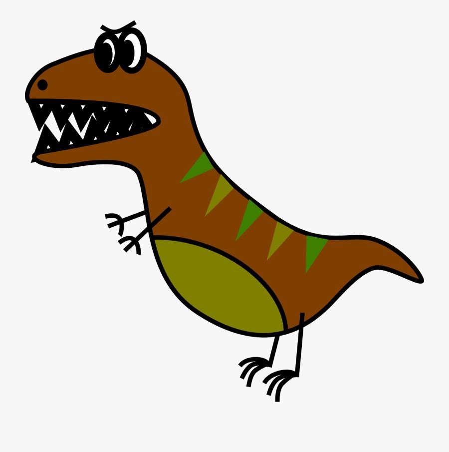T Rex Cartoon Drawing Easy, Transparent Clipart