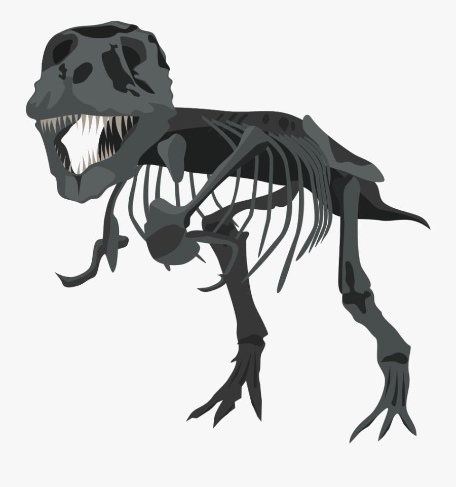 T Rex Clipart Dinosaur Skeleton - T Rex Skeleton Vector, Transparent Clipart