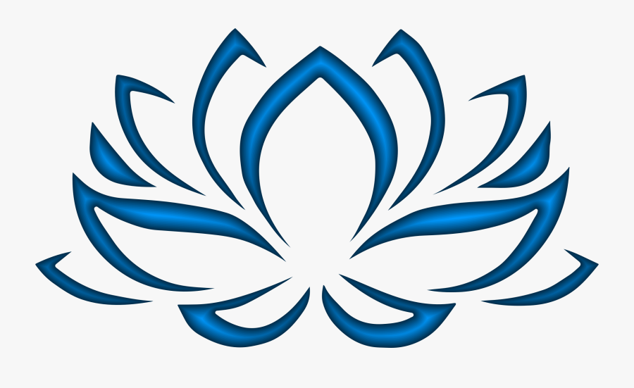 Flowers Clipart Blue Lotus - Red Lotus Flower Symbol, Transparent Clipart