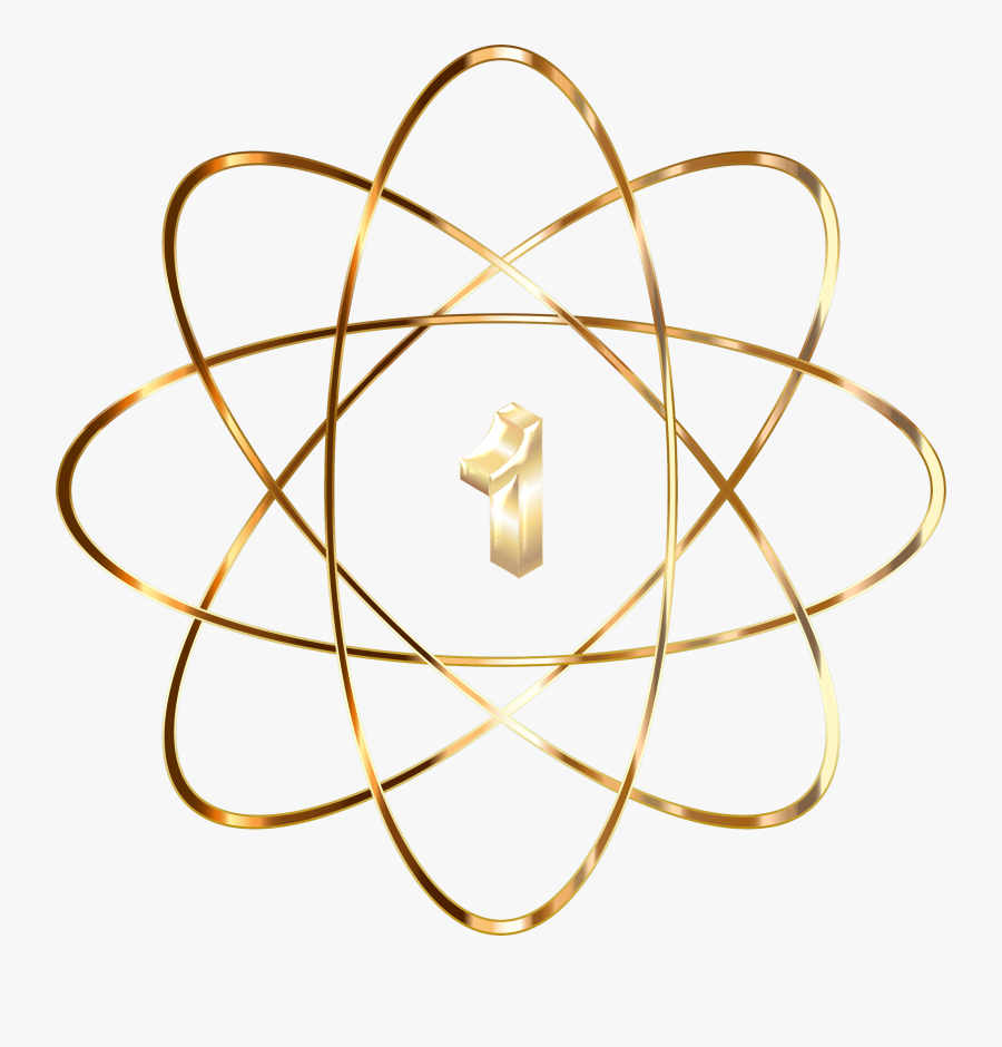 Gold No Icons Png - What's An Atom, Transparent Clipart