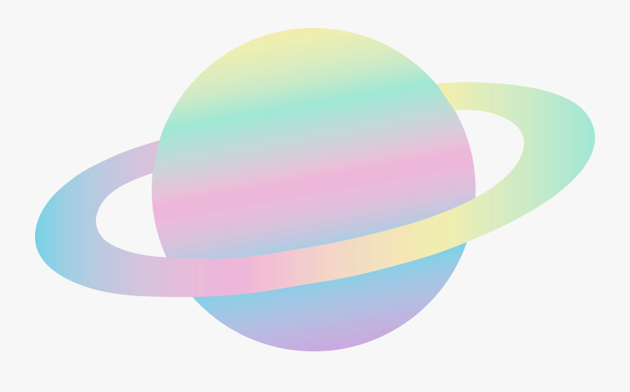 Planet Clipart Tumblr Cartoon - Cute Planet Png, Transparent Clipart