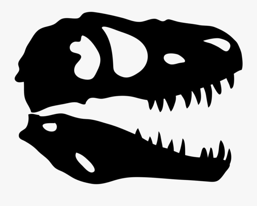 T Rex Skull Silhouette, Transparent Clipart