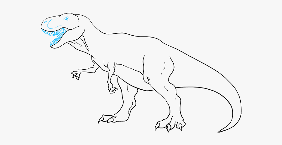 How To Draw Tyrannosaurus Rex - Draw T Rex Easy, Transparent Clipart