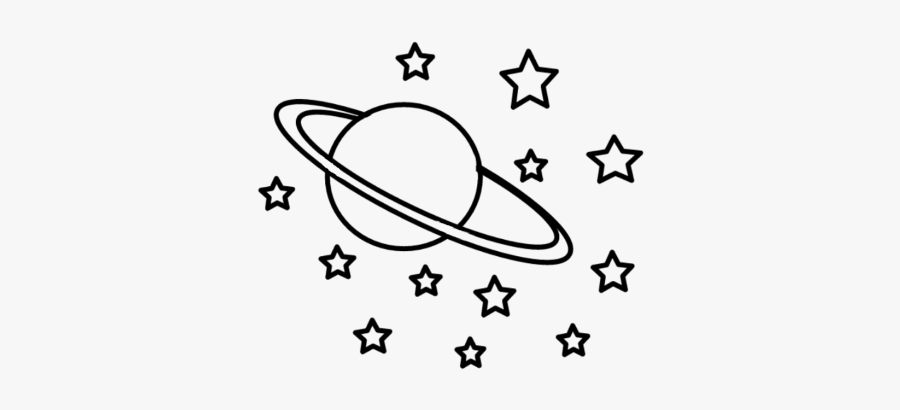Space Galaxy Stars Cute - Vsco Stickers Black And White, Transparent Clipart