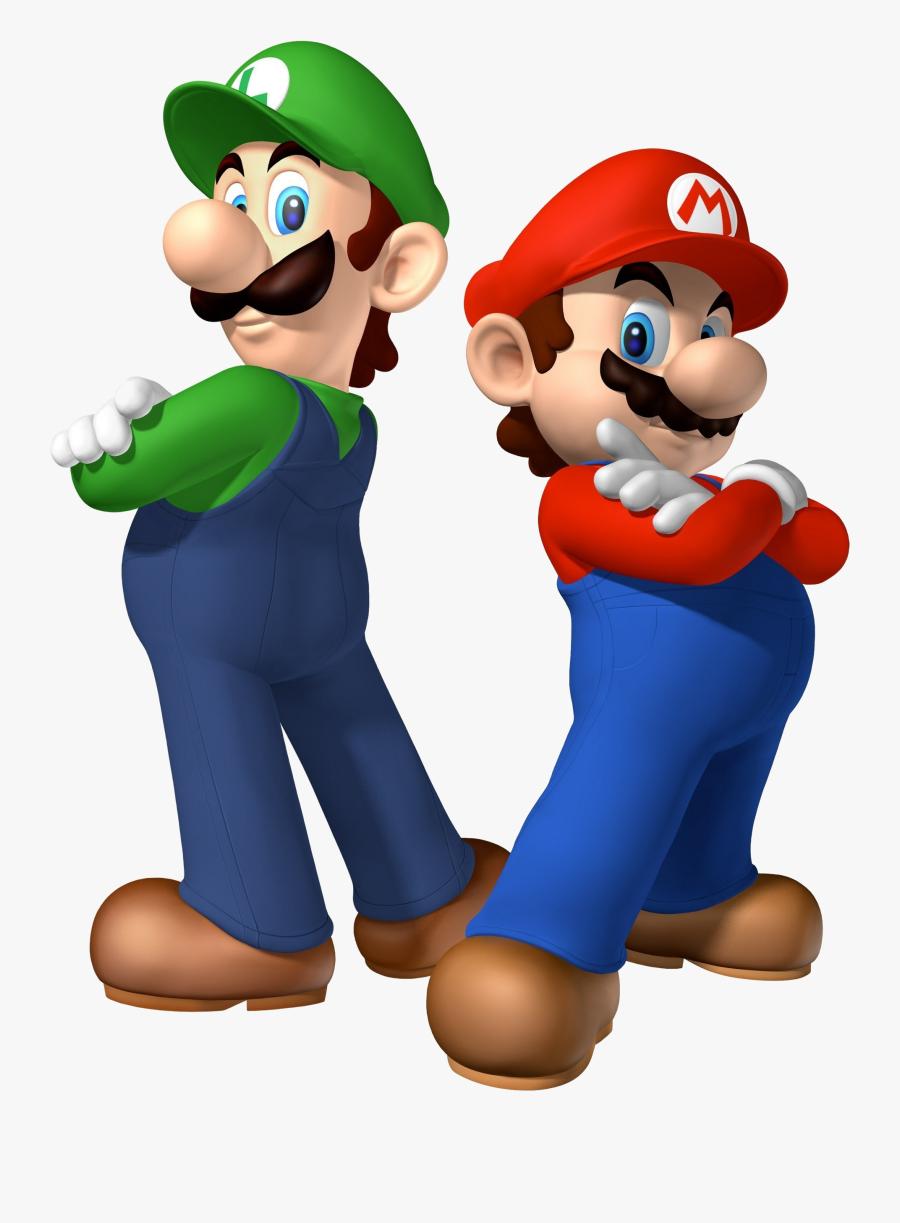 Mario Bros Transparent Background - Mario Bros And Luigi, Transparent Clipart