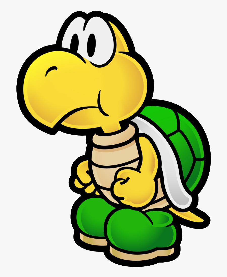 Koopa Troopa Nerdy Schtuff Paper Mario, Paper Mario - Super Mario Paper Characters, Transparent Clipart