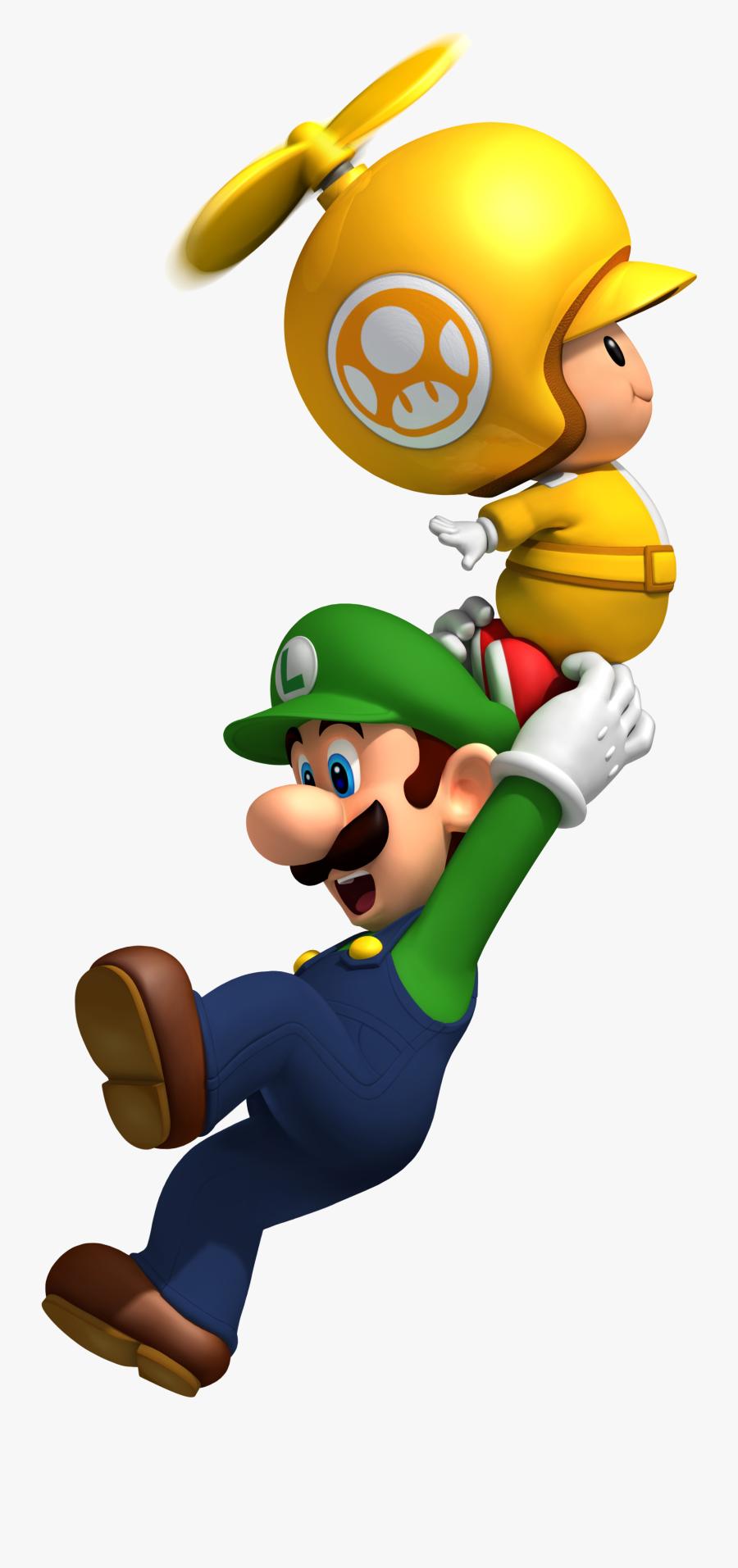 New Super Mario Bros - New Super Mario Bros Wii Flying, Transparent Clipart