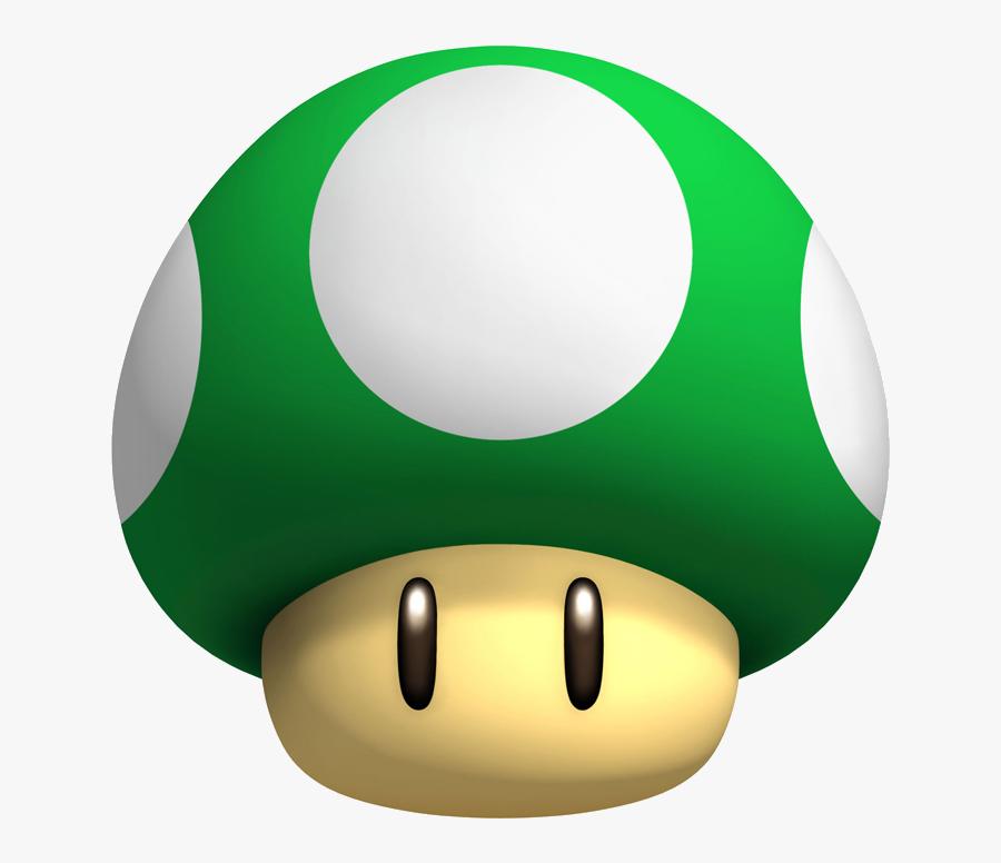Transparent Mario Mushroom Png - Green Super Mario Mushroom, Transparent Clipart