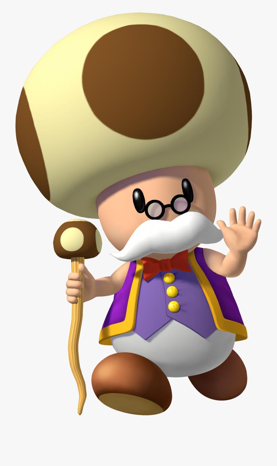 Since Super Mario Bros - Super Mario Old Toad, Transparent Clipart