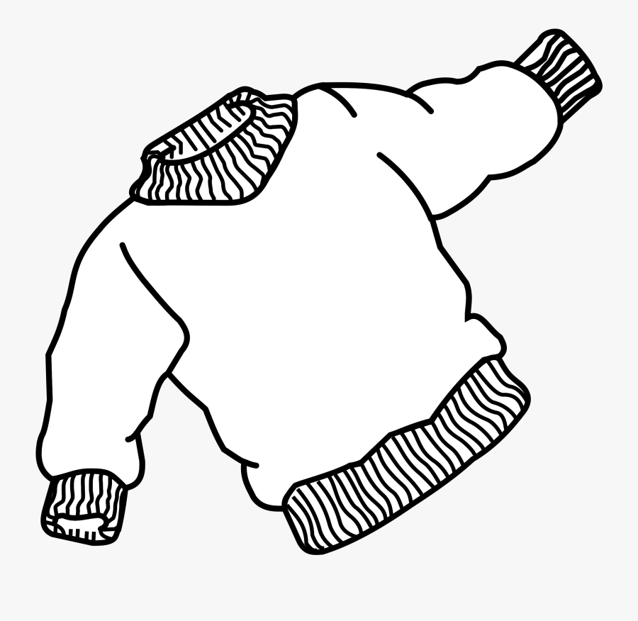 Clipart - Sweater Line Art, Transparent Clipart