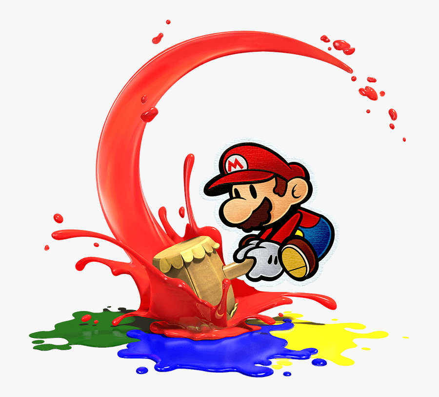 Transparent Repeat Clipart - Mario De Paper Mario Color Splash, Transparent Clipart
