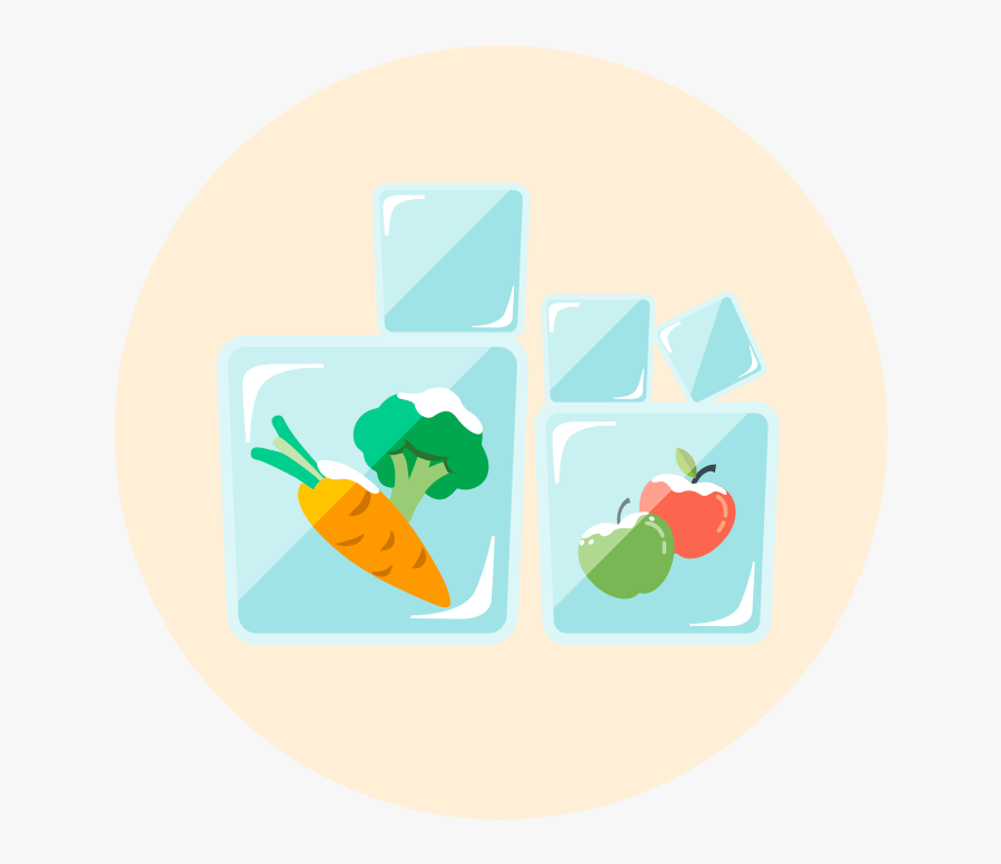 Shop Healthy To Eat Healthy - Frozen Fruits And Vegetable Clipart, Transparent Clipart