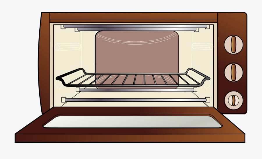 Microwave Oven - Cartoon Cake In Oven, Transparent Clipart