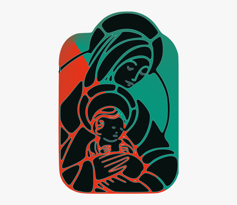 Baby Jesus Png - Virgin Mary Png, Transparent Clipart