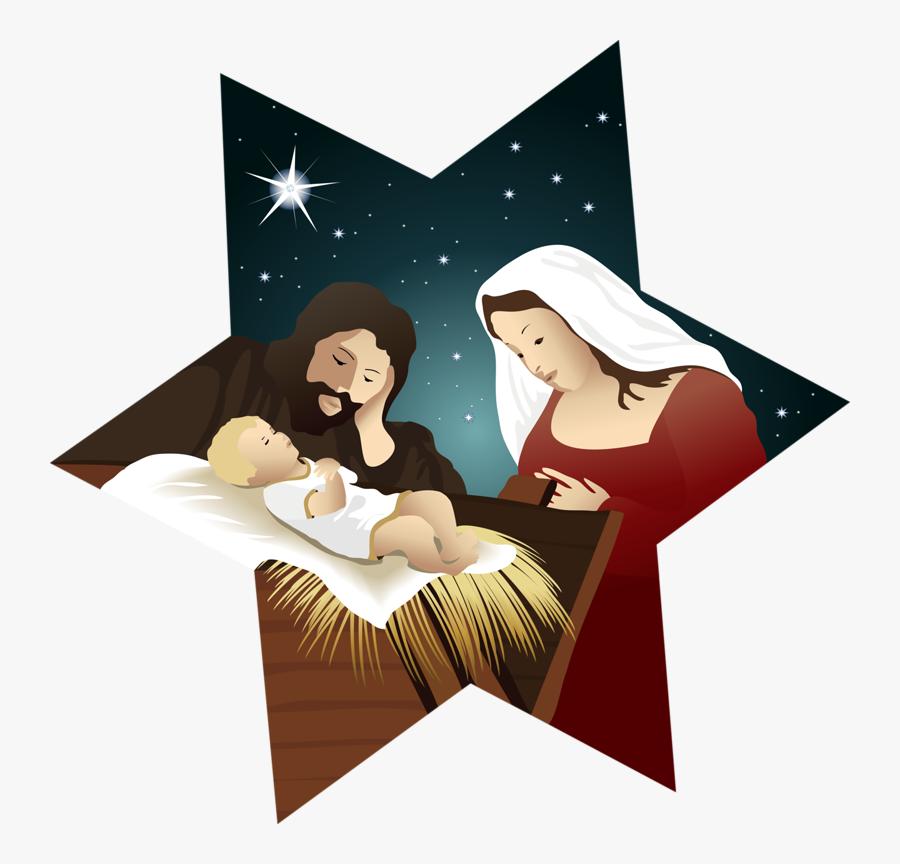 Bethlehem Christmas Holy Family Nativity Scene Nativity - Clipart Nativity Scene, Transparent Clipart
