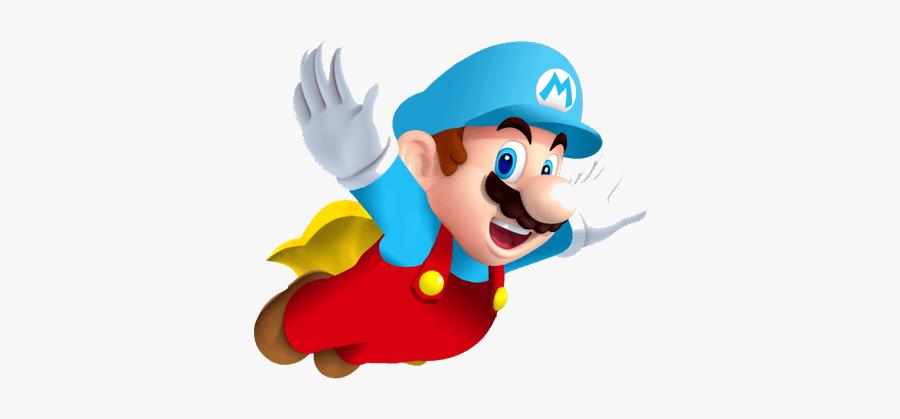 Mario New Super Bros Clipart Stunning Free Transparent - Super Mario Bros Cape Mario, Transparent Clipart