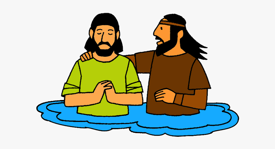 Baptism Of Jesus - Jesus Being Baptised Cartoon, Transparent Clipart