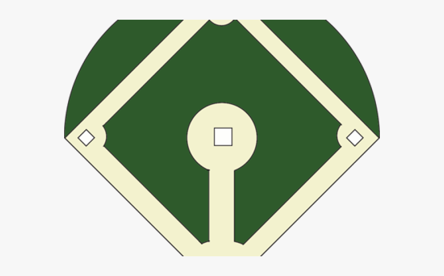 Baseball Stadium Clipart - Baseball Diamond Template, Transparent Clipart