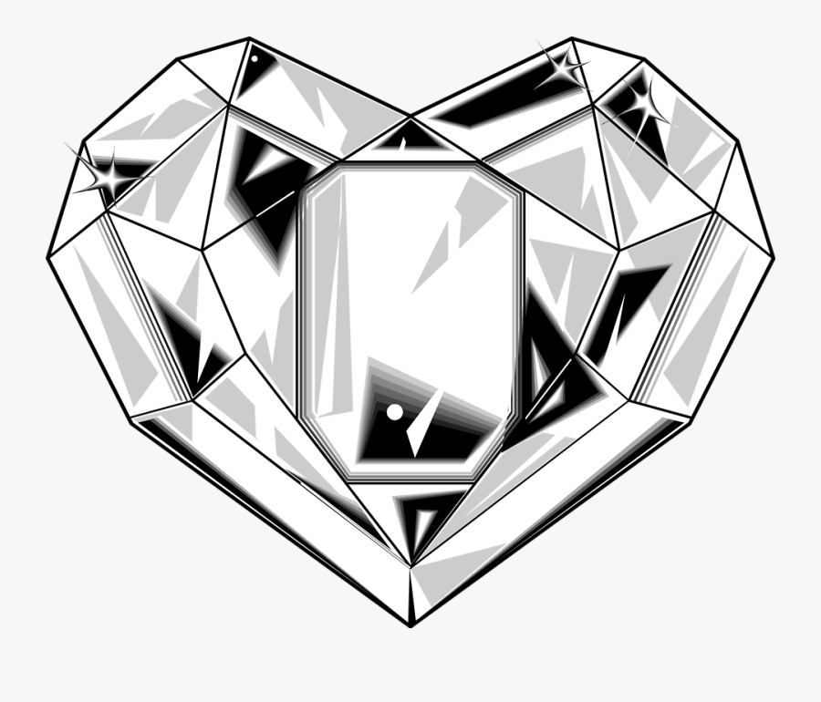 Clip Art Library Stock Diamond Free Download Best - Crystals Black And White, Transparent Clipart