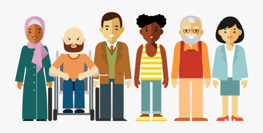 People,social Group,cartoon,animated Art,art - Group Of People Cartoon Png, Transparent Clipart