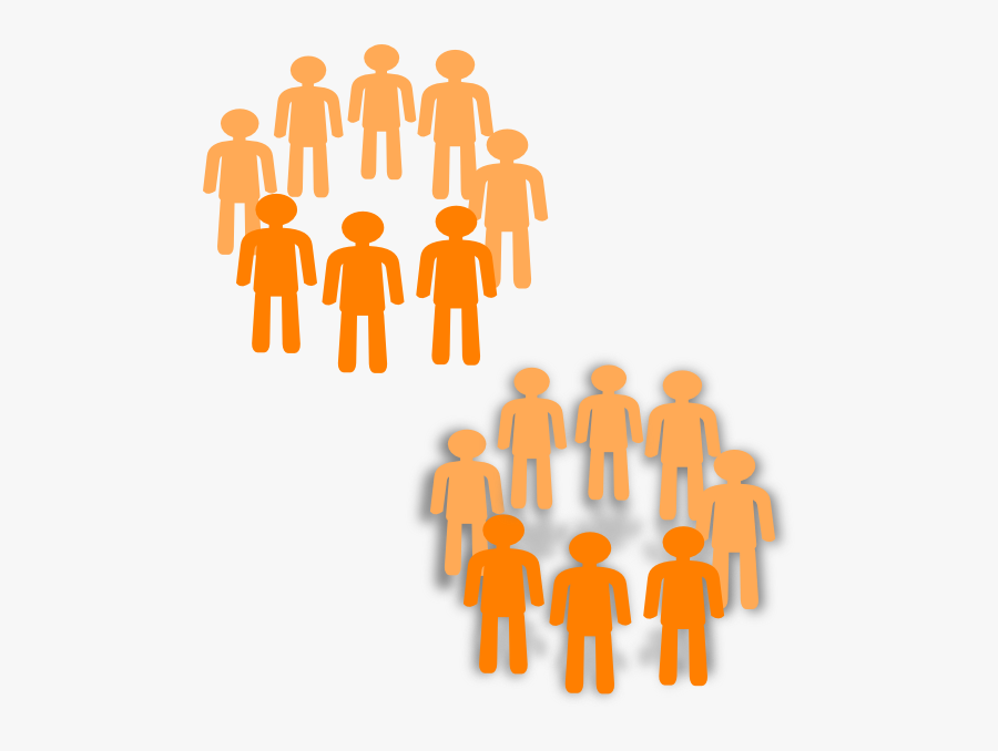 Transparent Group Of People Png - Clip Art Two Groups Of People, Transparent Clipart