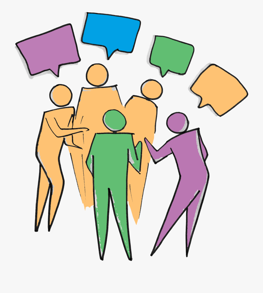 Transparent People Talking Png - Group Of People Talking Clipart, Transparent Clipart