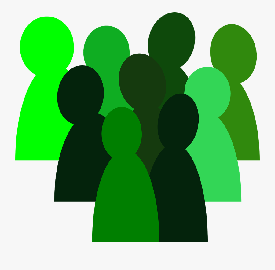 People, Group, Crowd, Team, Isolated, Teamwork - Small Group Of People Drawing, Transparent Clipart