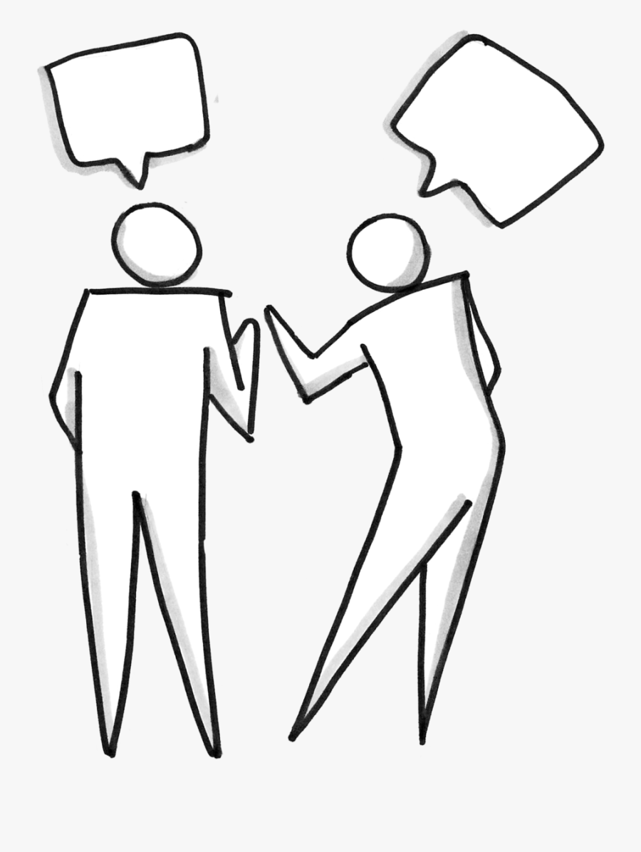 Two People Talking - Group Of People Talking Clipart, Transparent Clipart